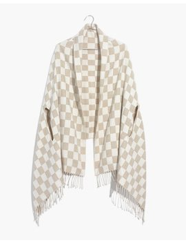 Checkerboard Cape Scarf by Madewell