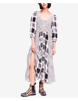 Old Friends Cotton Mixed Plaid Maxi Dress by Free People