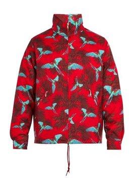 Bird Print Wool Jacket by Needles
