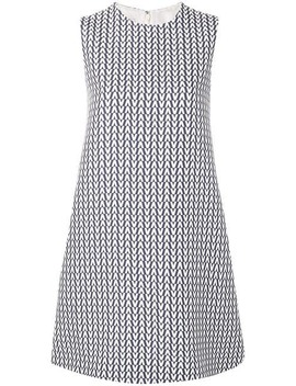 Geometric Print Shift Dress by Valentino