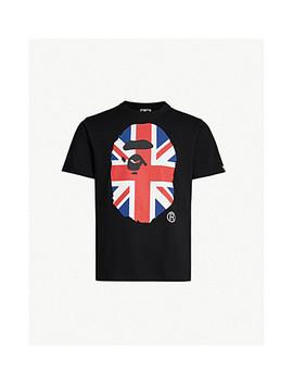 Union Jack Logo Print Cotton Jersey T Shirt by A Bathing Ape