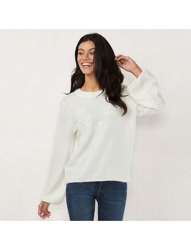 Women's Lc Lauren Conrad Novelty Balloon Sleeve Sweater by Kohl's