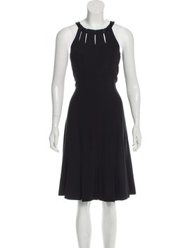 Sleeveless Pleated Dress by Chanel