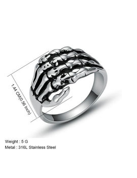 Men's Stainless Steel Fashion Cool Gothic Punk Biker Finger Rings Male Jewelry by Unbranded