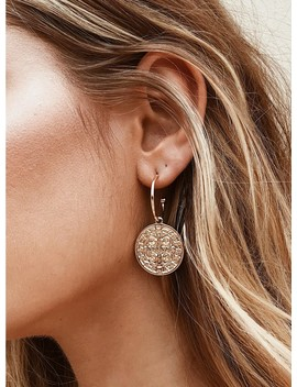 Open Coin Hoop Earrings by Princess Polly