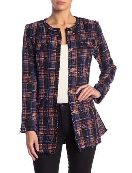 Multicolor Longline Tweed Jacket by Jealous Tomato