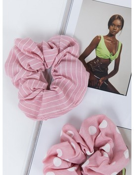 Lulu Scrunchie Set Pink by Princess Polly