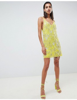 Asos Edition Cami Embellished Fringe Mini Dress by Asos Edition