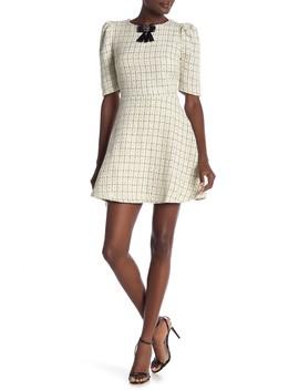 3/4 Sleeve Tweed Dress by Just Me