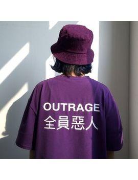 Ayibu   Lettering Short Sleeve T Shirt by Ayibu