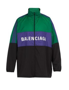 Logo Print Shell Track Jacket by Balenciaga
