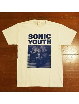 Sonic Youth Silkscreened Shirt (White) by Etsy