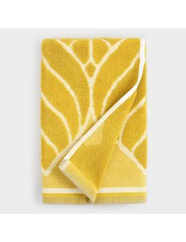 Chartreuse Green Leaf Sculpted Anise Hand Towel by World Market