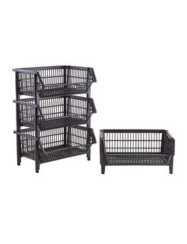 Our Black Large Stackable Basket by Container Store