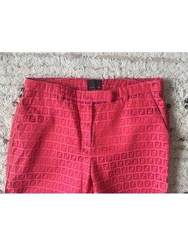 "Vintage 90's Fendi Ff Zucca Monogram Red Pants Jeans Dress Trousers Hip Hop 27   28"" Waist  S / M by Etsy"