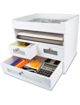 """Victor Technology, Llc Tower Organizer Storage 12 4/5""""X10 3/5<Wbr>""""X10 7/8"""" White by Victor Technology, Llc"""