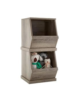 Rustic Driftwood Nantucket Single Stackable Storage Bin by Container Store
