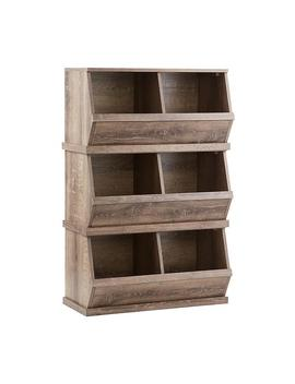 Rustic Driftwood Nantucket Stackable Storage Bin by Container Store