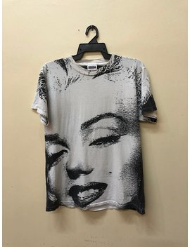 Vintage 90s Marilyn Monroe Full Print Acid Wash Mosquitohead T Shirt Promo Tour Live In Concert Bandtees by Etsy