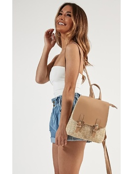 Changing Pace Backpack In Tan by Showpo Fashion