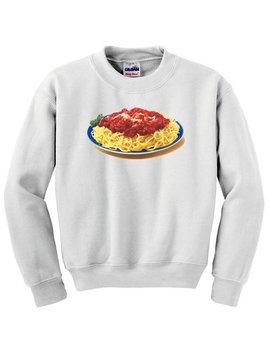Cool Spaghetti Plate Unisex Sweatshirt. Available In White And Gray by Etsy