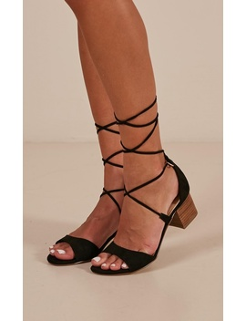 Verali   Elki Heels In Black Micro by Showpo Fashion