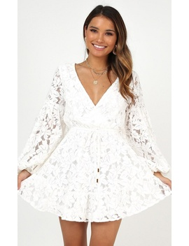 Autumn Leaves Dress In White Lace by Showpo Fashion