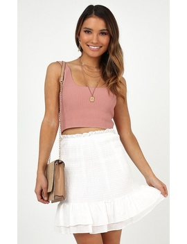 Best Outcome Skirt In White by Showpo Fashion