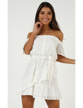 Look What You Started Dress In White by Showpo Fashion