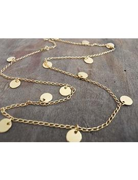 Handmade Designer Layered Gold Necklace With Circle Disc Coin Charms by Amazon
