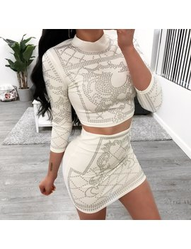 Charlene 2 Piece (White) by Laura's Boutique