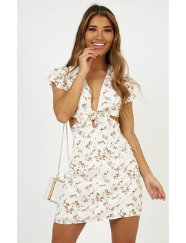 Follow Me Home Dress In White Floral by Showpo Fashion