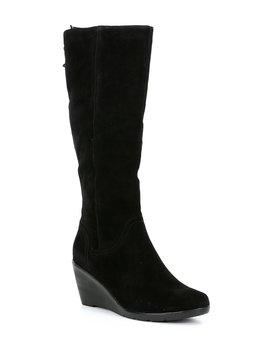 Waterproof Larissa Suede Wedge Boots by Blondo