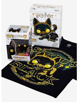 Funko Harry Potter Pop! Tees Sirius Black (As Dog) Flocked Vinyl Figure & T Shirt Box Set Hot Topic Exclusive by Hot Topic