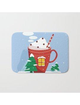 Christmas Card Bath Mat by