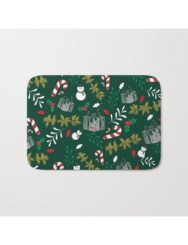 Pattern Green Christmas18 Bath Mat by