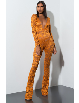 Midst Of It All Lace Jumpsuit by Akira
