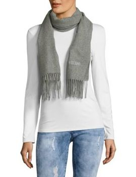 Fringed Merino Wool Scarf by Moschino