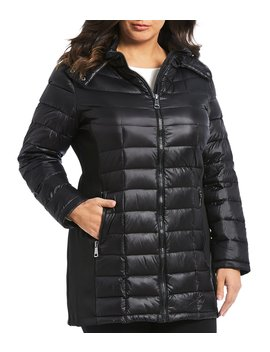 Plus Size Maxi Puffer Coat by Calvin Klein