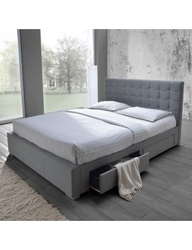 Baxton Studio Adonis Modern And Contemporary Grey Fabric 4 by Baxton Studio