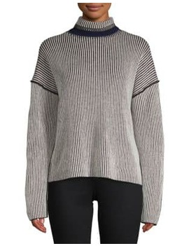 Oversized Striped Cashmere Sweater by Theory