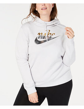 Plus Size Sportswear Rally Metallic Logo Hoodie by Nike