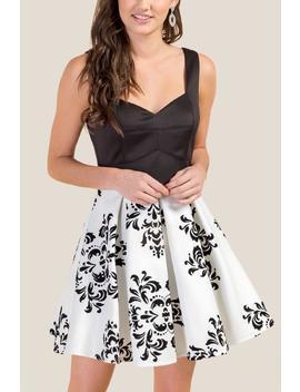 Christine Floral Burnout Dress by Francesca's