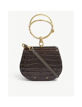 Nile Croc Embossed Leather Cross Body Bag by Chloe