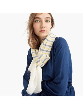 Lightweight Wool Scarf In Stripe by J.Crew