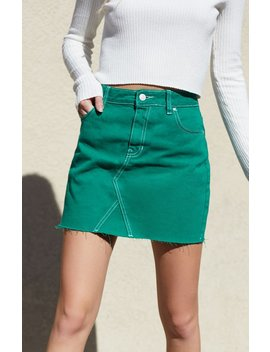 Pac Sun Green Vintage 5 Pocket Skirt by Pacsun