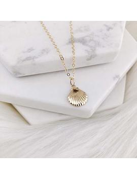 14k Gold Filled Seashell Dainty Necklace, Delicate Necklace, Simple Necklace, Layered Necklace, Everyday Necklace, Gold Necklace, Minimalist Jewelry, Bridesmaid Gift, Gift For Her. by Amazon