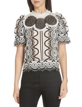 Lola Lace Puff Sleeve Top by Sea