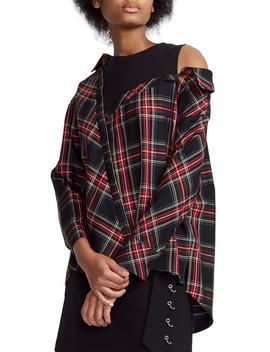 Lazak Deconstructed Plaid Top by Maje