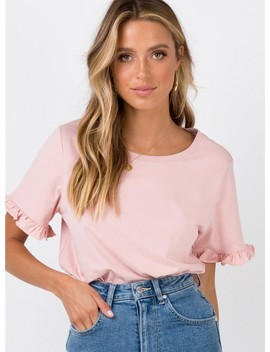 Roxy Ruffle Top Blush by Princess Polly